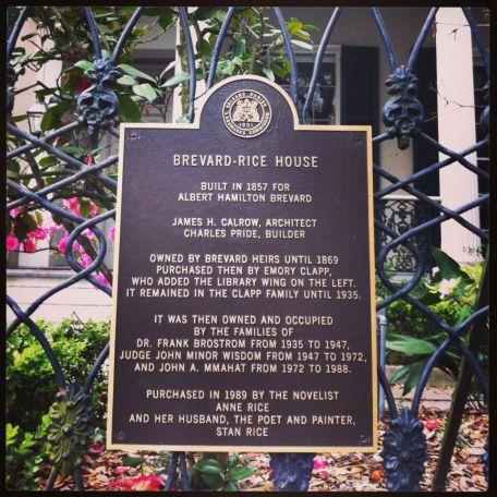 Anne Rice's previous home.